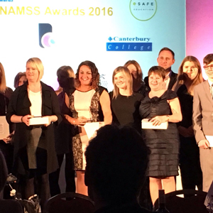 Staff receiving the NAMSS award