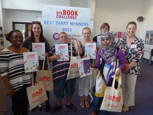 Six Book Challenge Winners